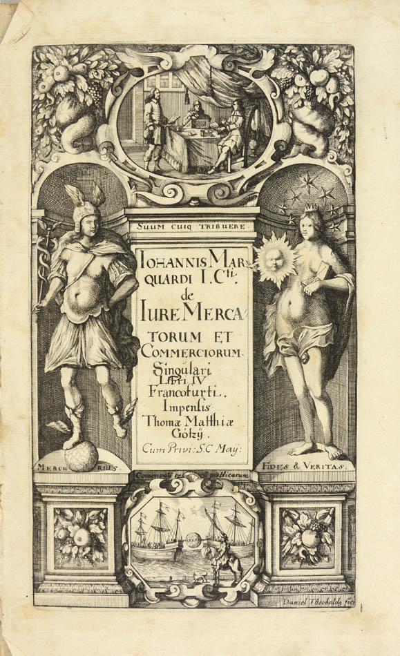 Lot 50 - MARQUARD, Johann. Tractatus politico-juridicus...