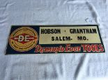 "Lot 18 - Diamond Edge Tools & Cutlery Metal Sign (Hobson-Grantham, Salem, MO.) 9 ¾"" x 27 5/8"""