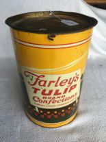 "Lot 169 - Tulip Brand tin, 15 1/4"", Farley Candy Company – Chicago, IL."