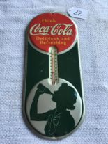 "Lot 22 - Coca-Cola, 7""x16"", Thermometer (USA-1939)"