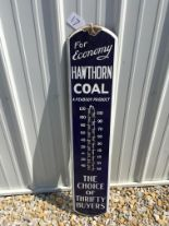 "Lot 17 - Hawthorne Coal, 8""x38 ½"", Porcelain Thermometer"
