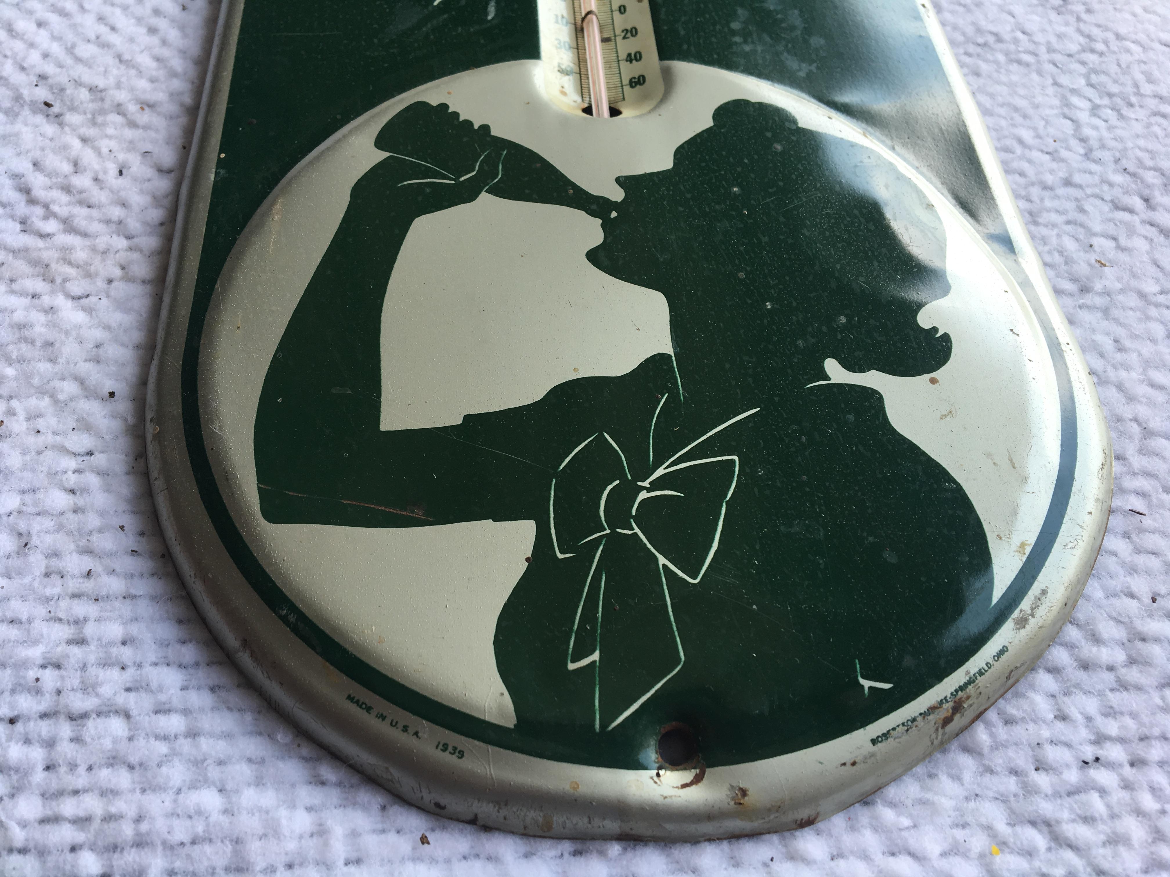 """Lot 22 - Coca-Cola, 7""""x16"""", Thermometer (USA-1939)"""