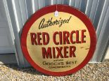 "Lot 9 - Red Circle Mixer, Gooch's Best, 42"" Metal Sign, Corn States Advertisement – Des Moines (12-57)"