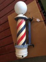 Lot 1 - Theo Koch Vintage Porcelain, Lighted Barber Pole