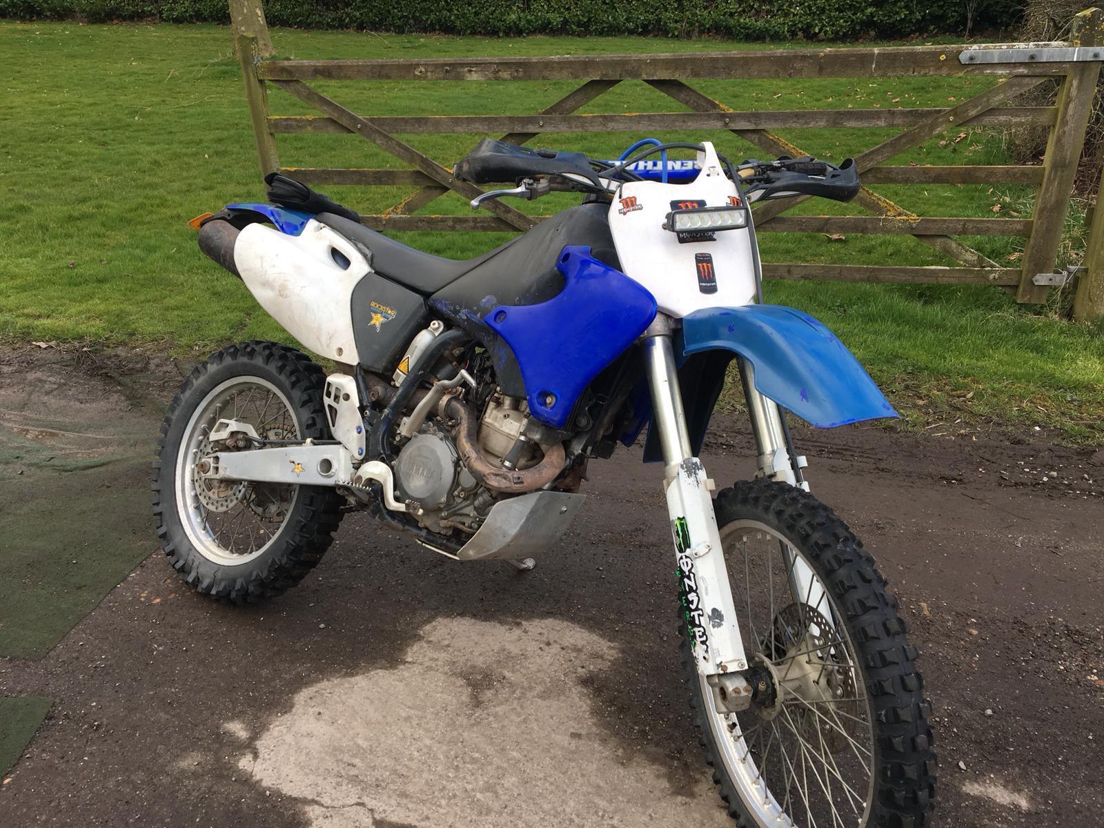 Kb 1998 r reg yamaha 400cc blue petrol motorcycle for Yamaha 400cc motorcycle