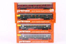 Primex (Märklin), vier Schnellzugwagen Primex (Märklin), vier Schnellzugwagen, 4192, 4193, 4196,