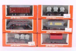 Primex (Märklin), sechs Güterwagen Primex (Märklin), sechs Güterwagen, 4542, 4544, 4582, 2 x 4585,