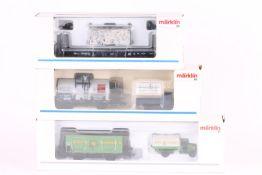 Märklin, drei Güterwagen Märklin, drei Güterwagen, Museum 1992, 94142 (PMS 62-13), 48663, sehr gut