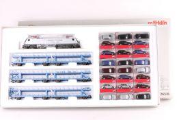 """Märklin 26518, Autotransportzug """"Cayenne"""" Märklin 26518, Autotransportzug """"Cayenne"""", Elektrolok """"182"""