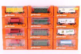 Primex (Märklin), acht Güterwagen, vier Personenzugwagen Primex (Märklin), acht Güterwagen, vier