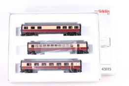 Märklin 43115, drei Ergänzungswagen zu VT 11.5 Märklin 43115, drei Ergänzungswagen zu VT 11.5 37605,
