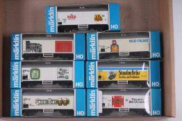 Märklin, sieben Güterwagen Märklin, sieben Güterwagen, Kühlwagen Typ 4415, darunter drei