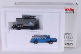 """Märklin 47903, Wagen-Set """"Brennstoff"""" Märklin 47903, Wagen-Set """"Brennstoff"""", Kesselwagen und LKW,"""