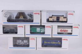 Märklin, sieben Güterwagen Märklin, sieben Güterwagen, 4422, 4425, 46037, 46074, 46159, 47612,