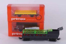 Märklin, drei Wagen Märklin, drei Wagen, 2518, Alpha Traveller A, offener Wagen Typ 46032 aus Set