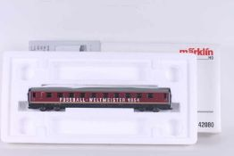 """Märklin 42080, """"FUSSBALL-WELTMEISTER 1954"""", Mittelwagen zu VT 08 Märklin 42080, """"FUSSBALL-"""