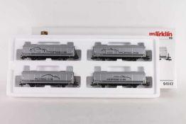 Märklin 94147, Porsche Museums Wagen-SetMärklin 94147, Porsche Museums Wagen-Set , vier gedeckte
