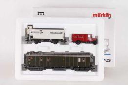 """Märklin 4329, Wagen-Set """"Reichspost""""Märklin 4329, Wagen-Set """"Reichspost"""", zweiachsiger Kühlwagen,"""