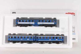 "Märklin 4289, Wagenset ""Tegernsee-Bahn""Märklin 4289, Wagenset ""Tegernsee-Bahn"", ein vierachsiger und"