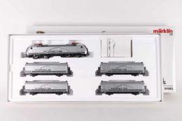 """Märklin 94105, Porsche MuseumszugMärklin 94105, Porsche Museumszug, Elektrolok """"152 041-0"""", vier"""