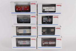 Märklin, acht Güterwagen, Insider SondermodelleMärklin, acht Güterwagen, Insider Sondermodelle,