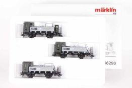 """Märklin 46290, Wagen-Set """"Spirituswagen""""Märklin 46290, Wagen-Set """"Spirituswagen"""", drei Wagen, sehr"""
