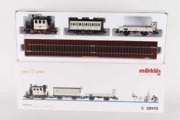 """Märklin 28970, """"Hochzeitszug""""Märklin 28970, """"Hochzeitszug"""", Glaskastl """"TRIX 1997 märklin"""","""