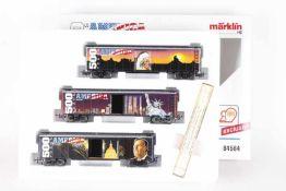 """Märklin 84564, Wagen-Set """"500 Years America""""Märklin 84564, Wagen-Set """"500 Years America"""", drei Box"""