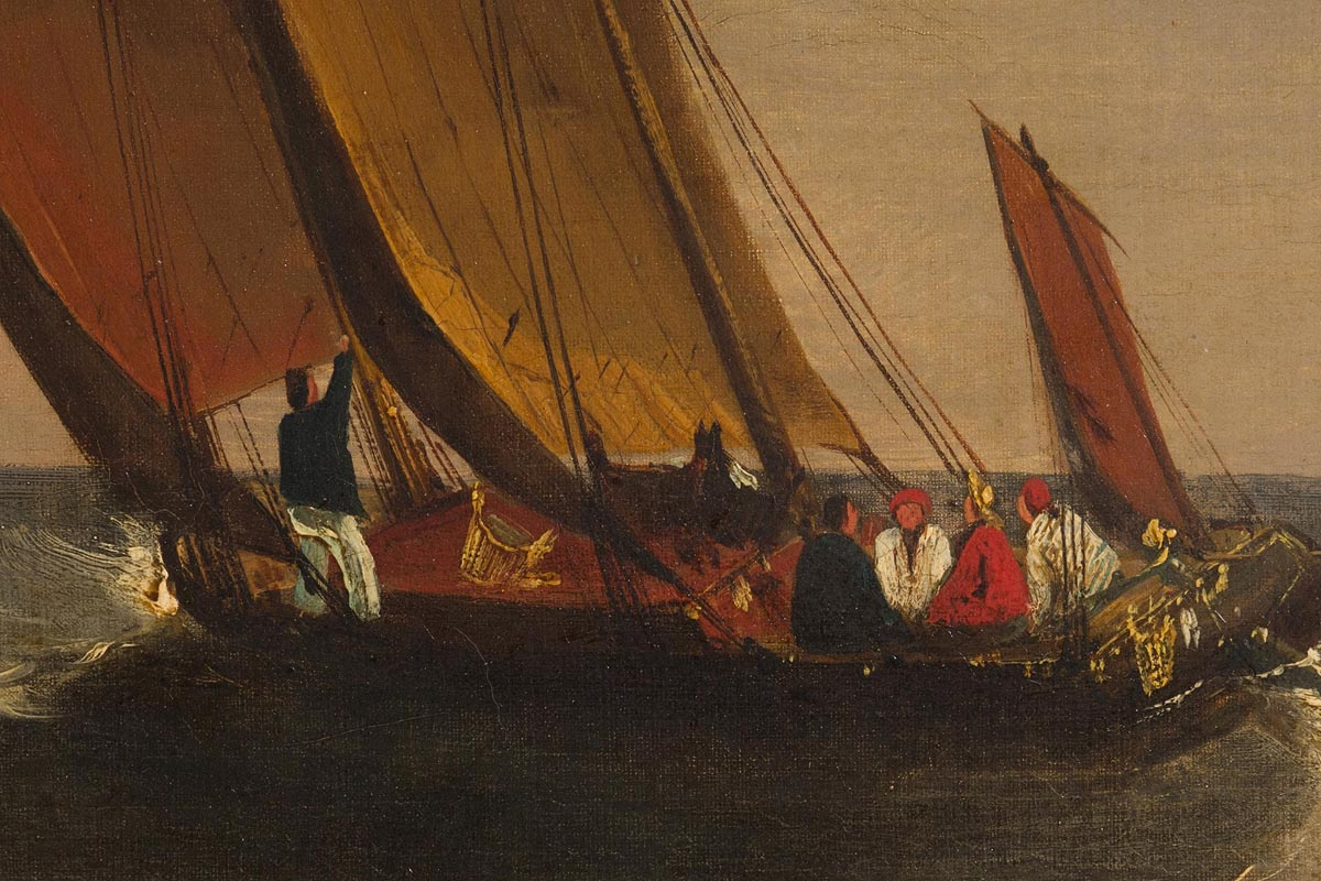 Lot 26 - Frederick Calvert (c. 1790 - 1844) Sailing Craft in Mount's Bay, Cornwall c.1825