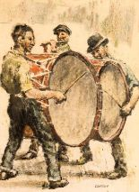 Lot 36 - William Conor RHA RUA ROI (1881-1968) The Drummers