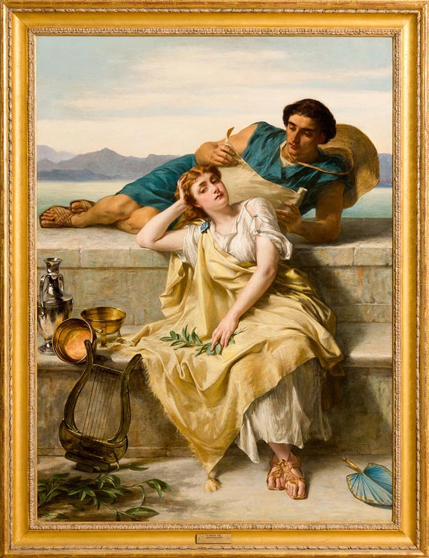 Lot 20 - Alfred W. Elmore RA (1815-1881) A Greek Ode (1879)