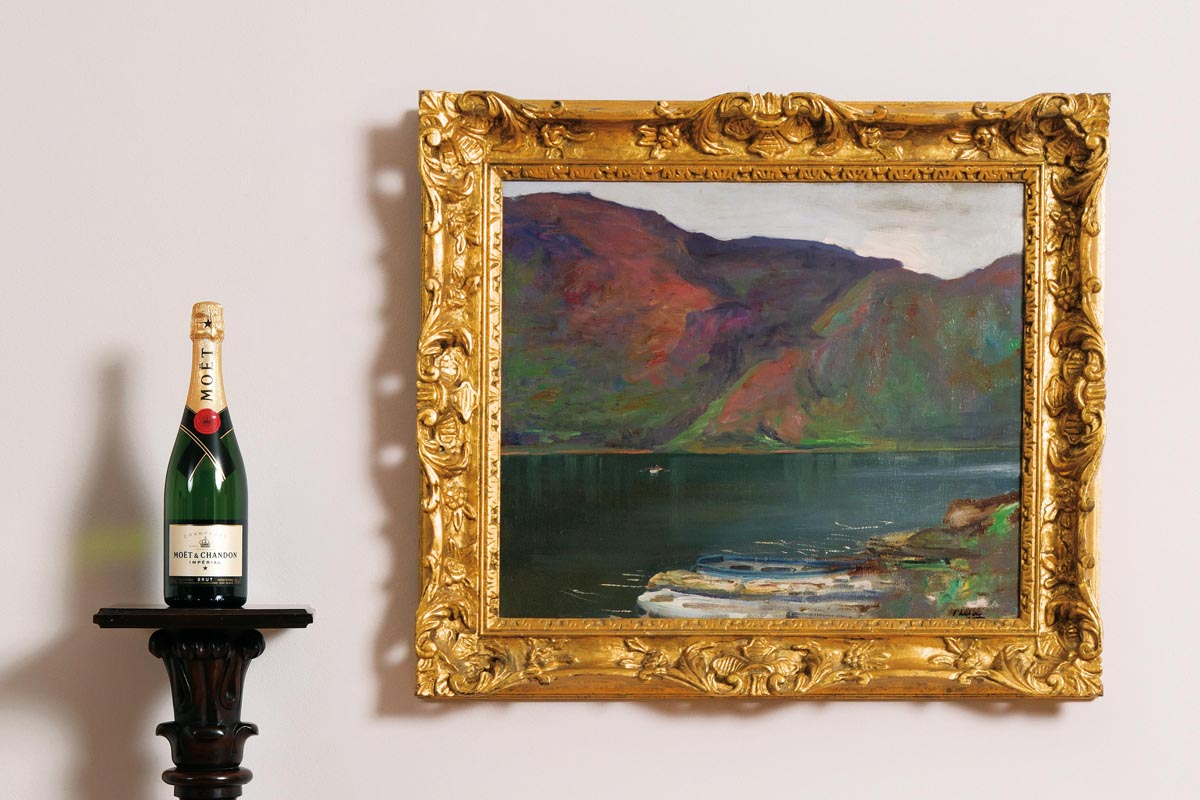 Lot 19 - Sir John Lavery RA RHA RSA (1856-1941) Glendalough, Ireland (1924)