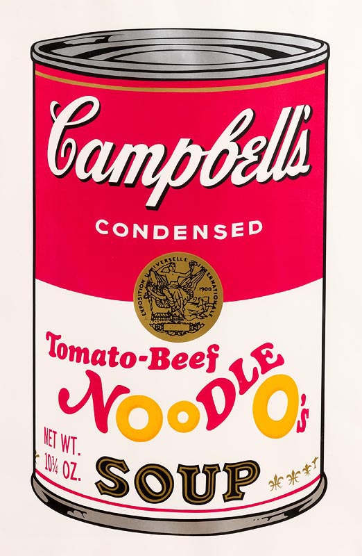 Lot 45 - Andy Warhol (1928-1987) Tomato-Beef Noodle O´s, from Campbell's Soup II, 1969 (F. & S. II.61)