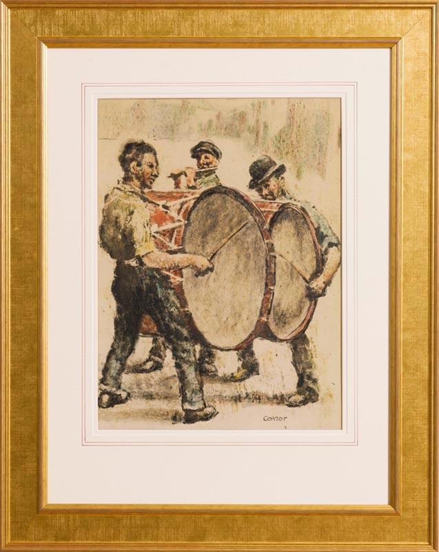 Lot 36 - William Conor RHA RUA ROI (1881-1968) The Drummers
