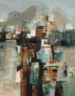 Lot 52 - George Campbell (1917-1979) Mountain Village, Tenerife