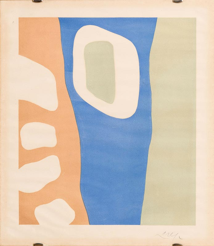 Lot 42 - Hans Arp (1886-1966) German/French Coulisses de Foret (Wings of the Forest) 1955