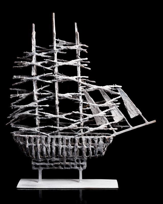 Lot 58 - John Behan RHA (b.1938) Atlantic Winter Famine Ship