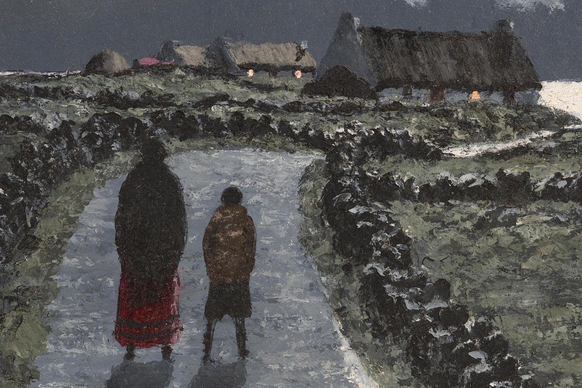 Lot 9 - Ciaran Clear (1920-2000) Moonlight, Atlantic Coast