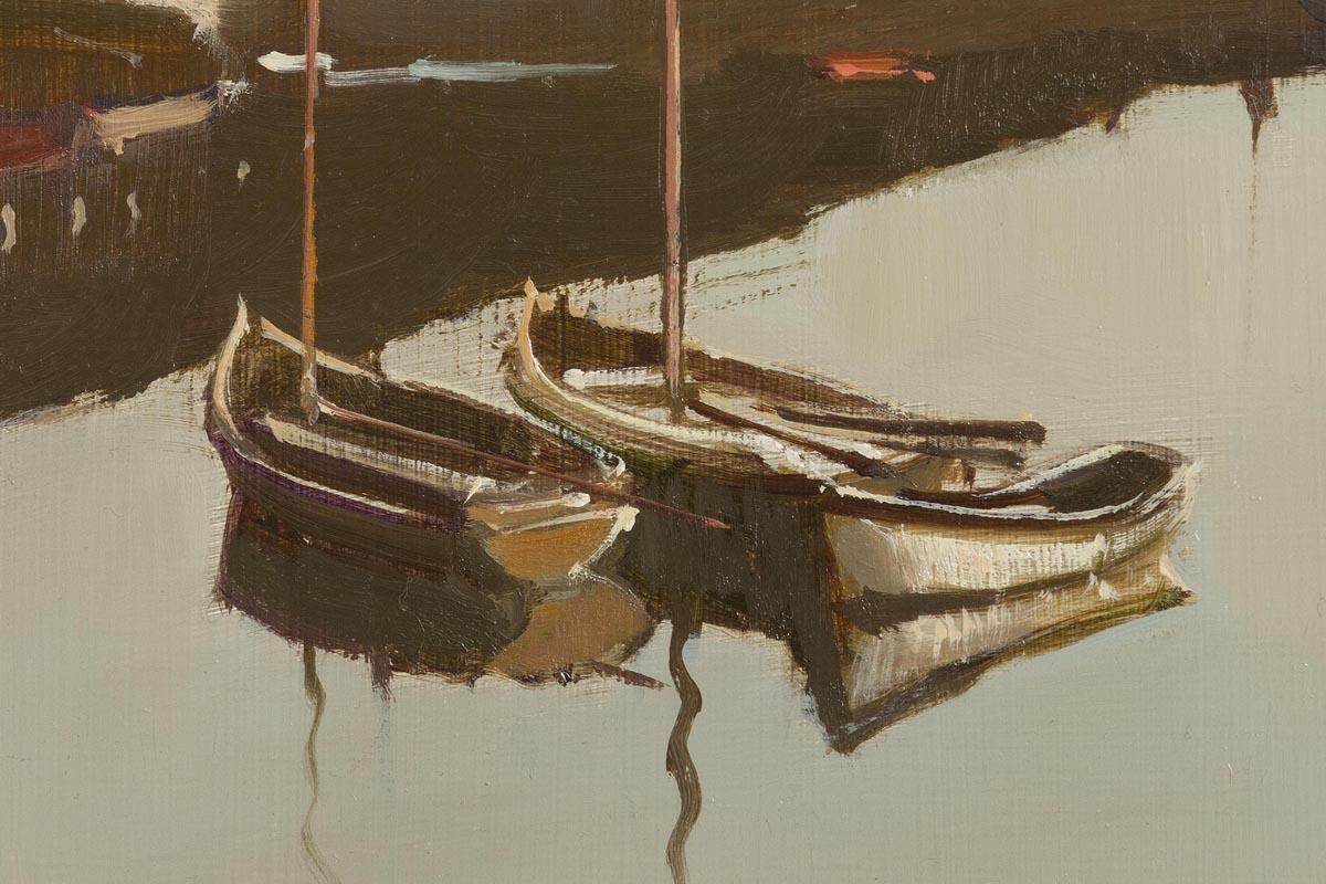 Lot 2 - Cecil Maguire RHA RUA (b.1930) Dawn's Early Light at Roundstone (1985)
