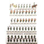 Deutsches Reich um 1910, Preußen, 1. Gardejäger im Parademarsch, mit Musik-Korps, Retter, sehr gute,