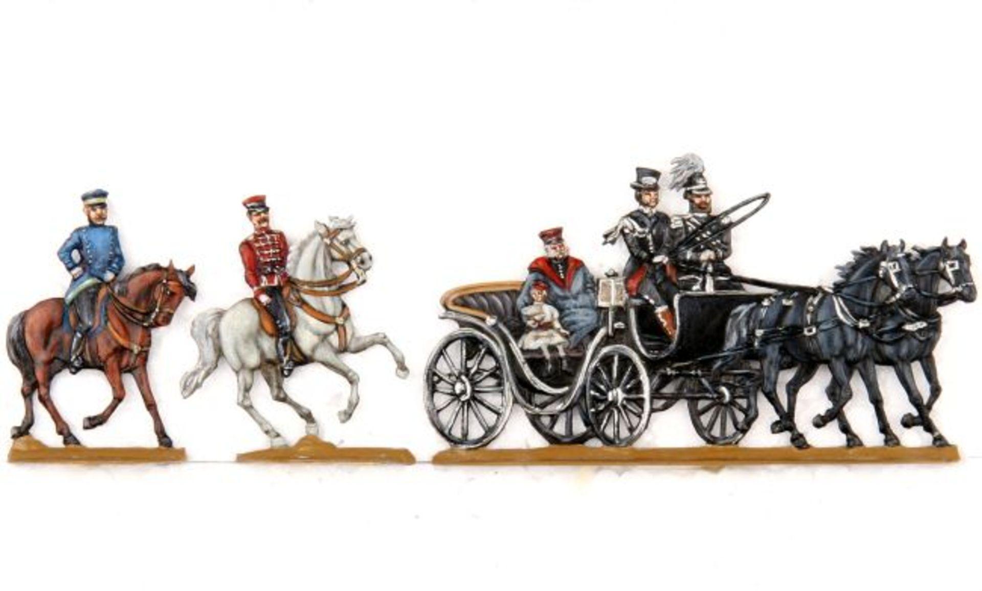 Deutsches Reich 1888, Droschke Victoria, 4 Generationen Hohenzollern, Schulz, sehr gute, schattierte