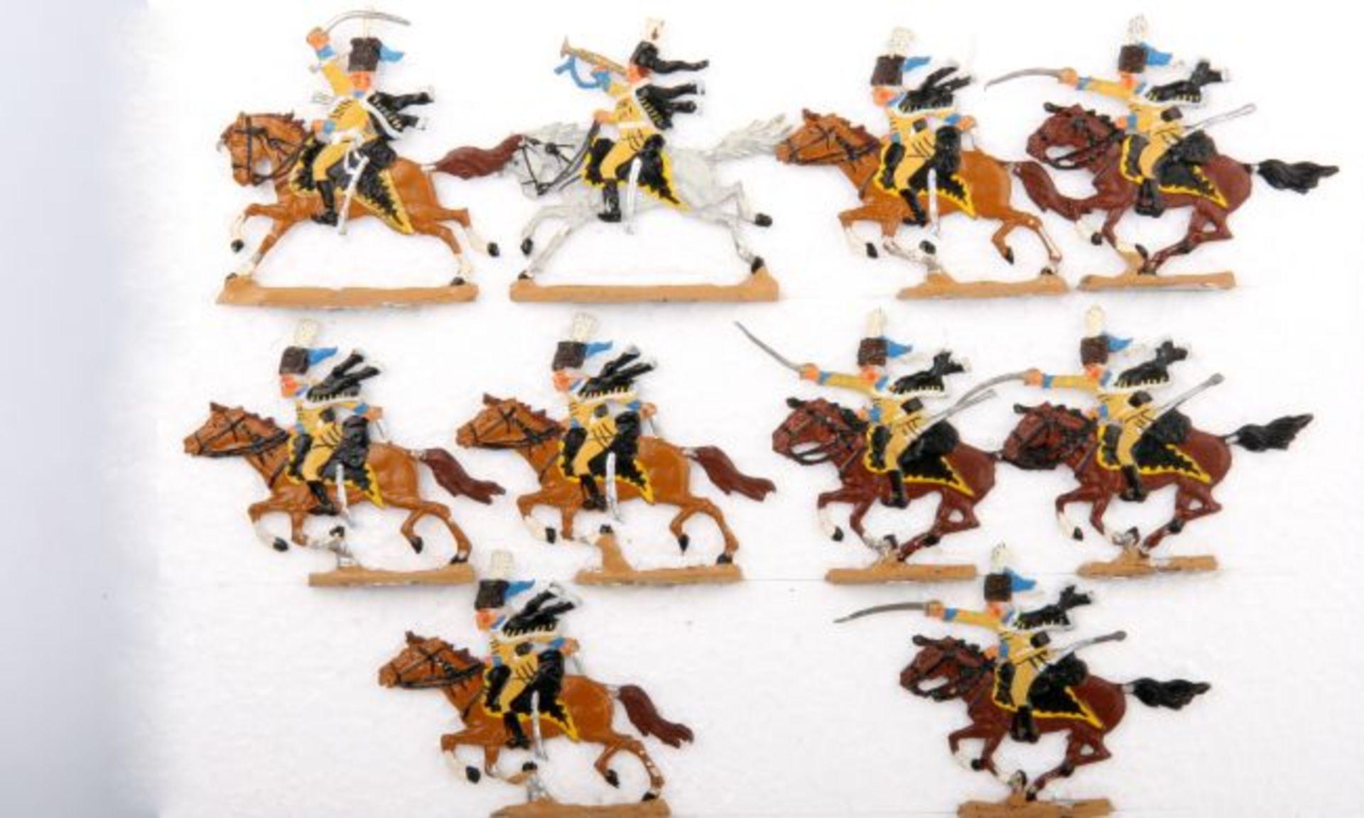 Russland um 1760, Husaren im Angriff, Kieler Zinnfiguren, Kilia, Originalkarton (P 451),