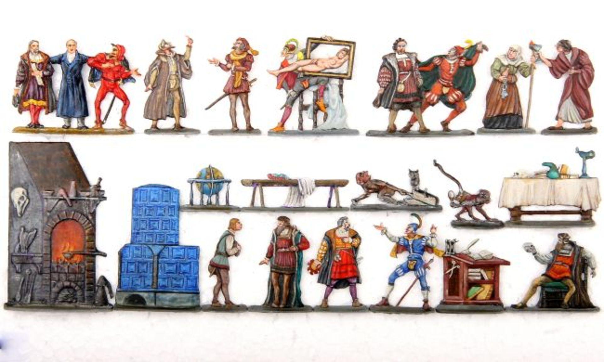 Goethe, diverse Figuren aus dem Faust-Zyklus, Scholtz, Gravur Mohr, sehr gute bis hervorragende,