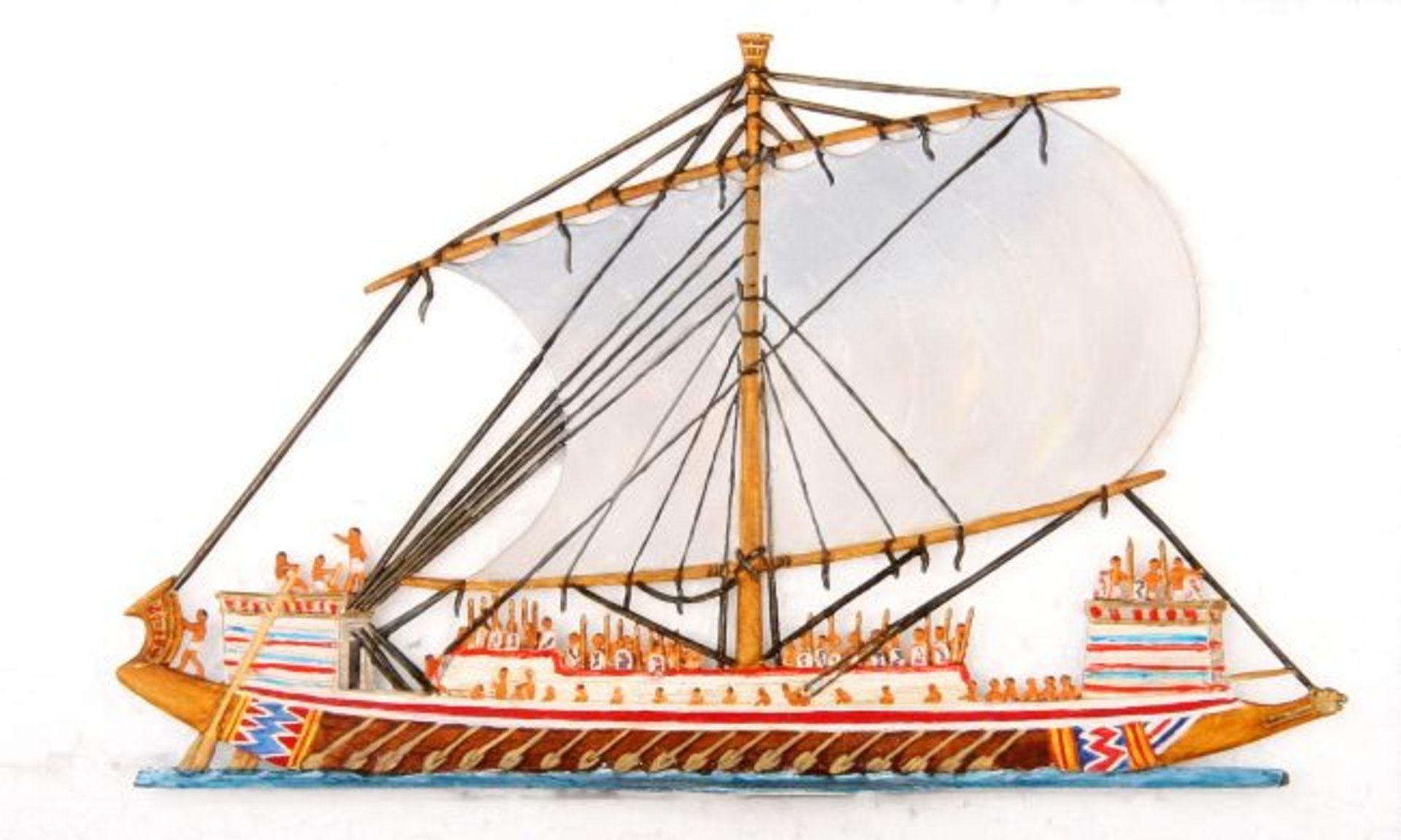 Altertum, Ägypten, Kriegs-Galeere, Höhe ca. 9,5 cm, Tylinski, sehr gute, leicht schattierte