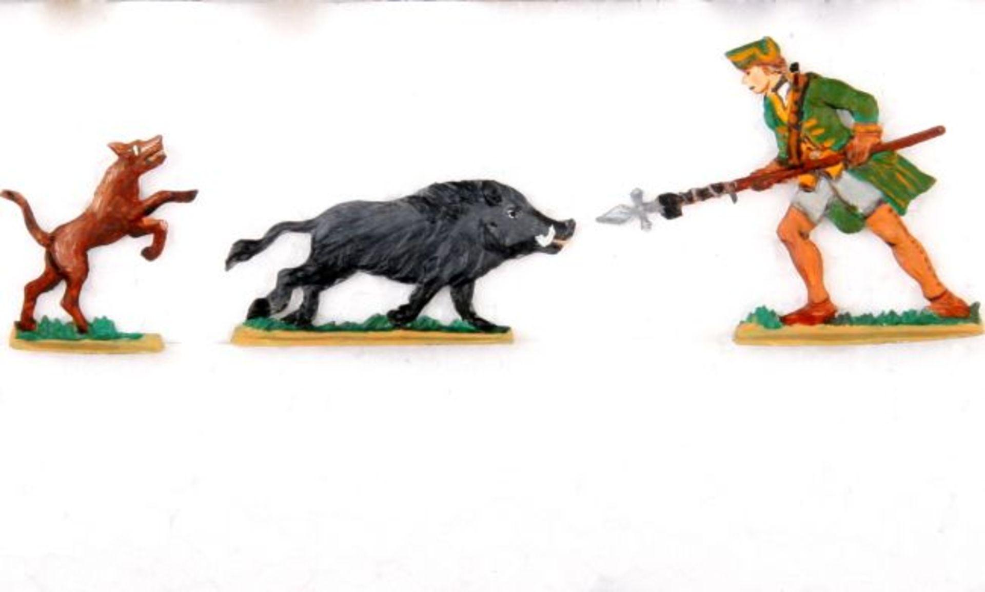 Jagd, Sauhatz im 18. Jahrhundert, Sonderfiguren der Klio-Landesgruppe Niedersachsen 1995, Grünewald,