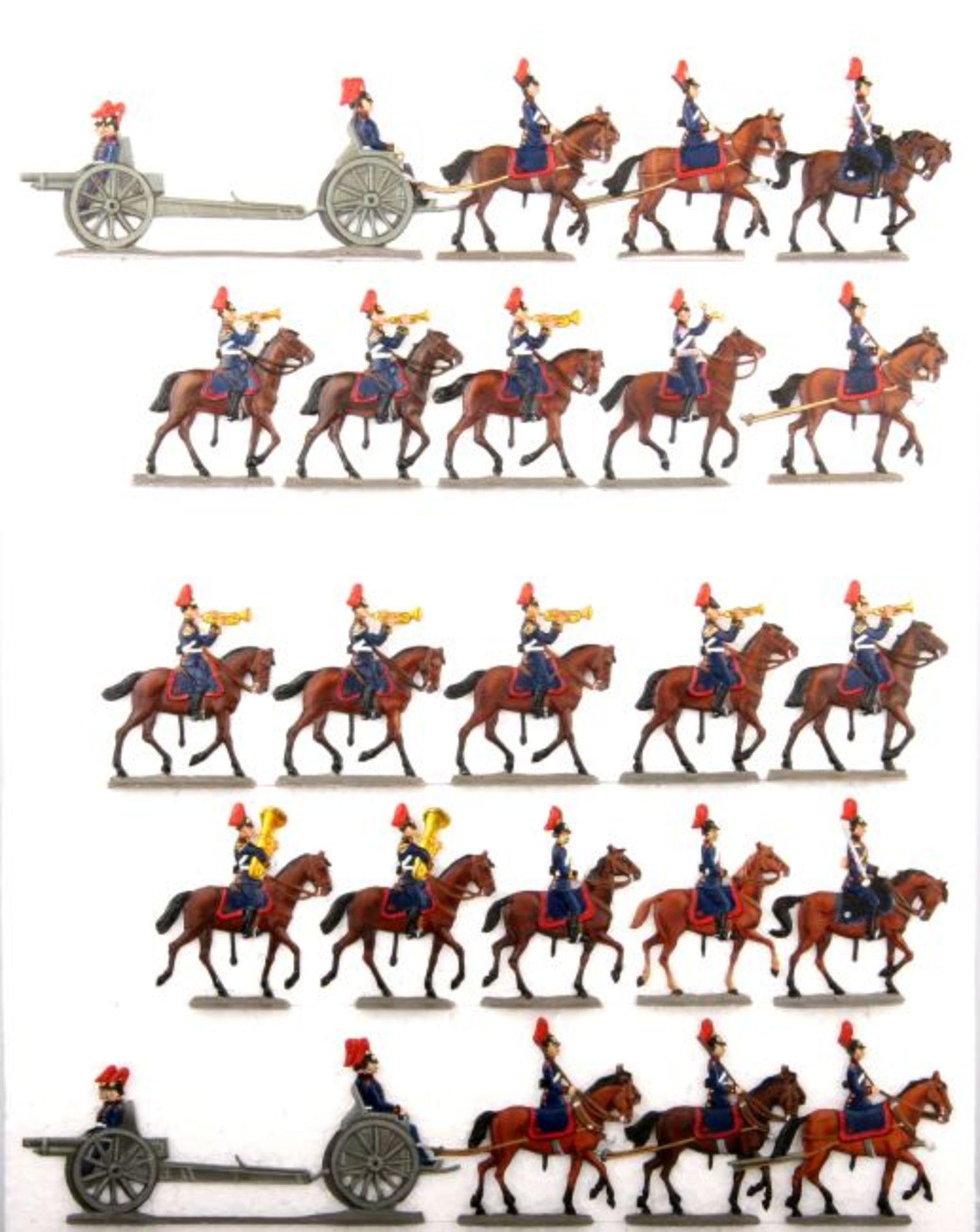 Deutsches Reich um 1910, Bayern, Feld-Artillerie im Parade-Marsch mit Trompetercorps, Kiel und