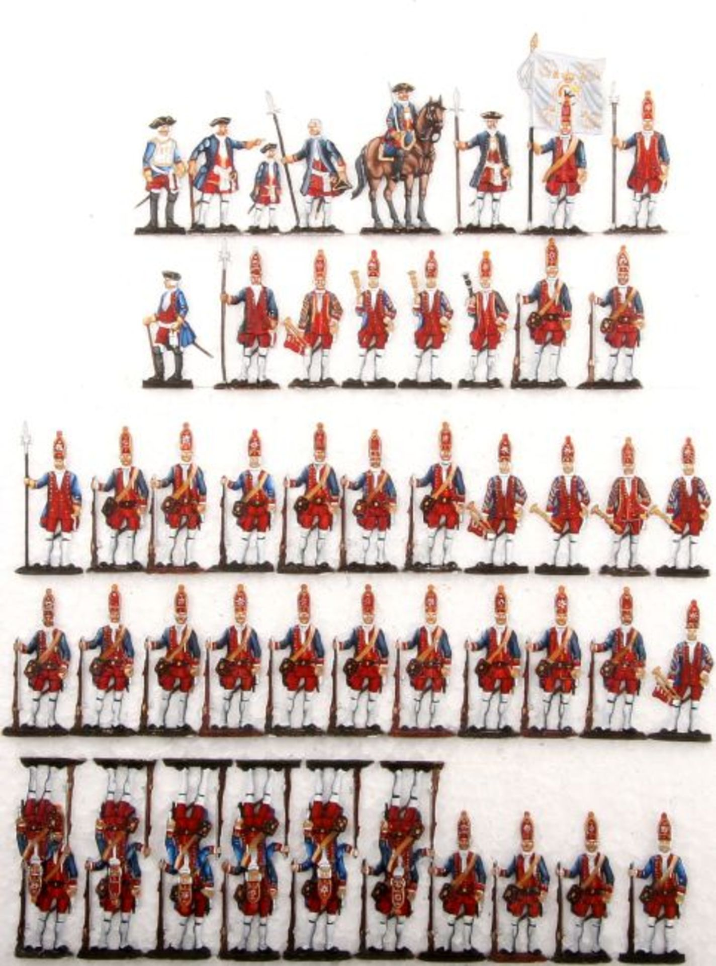 Preußen um 1720, Friedrich Wilhelm I. zeigt seinen Sohn Friedrich II. das Königsregiment, 1.