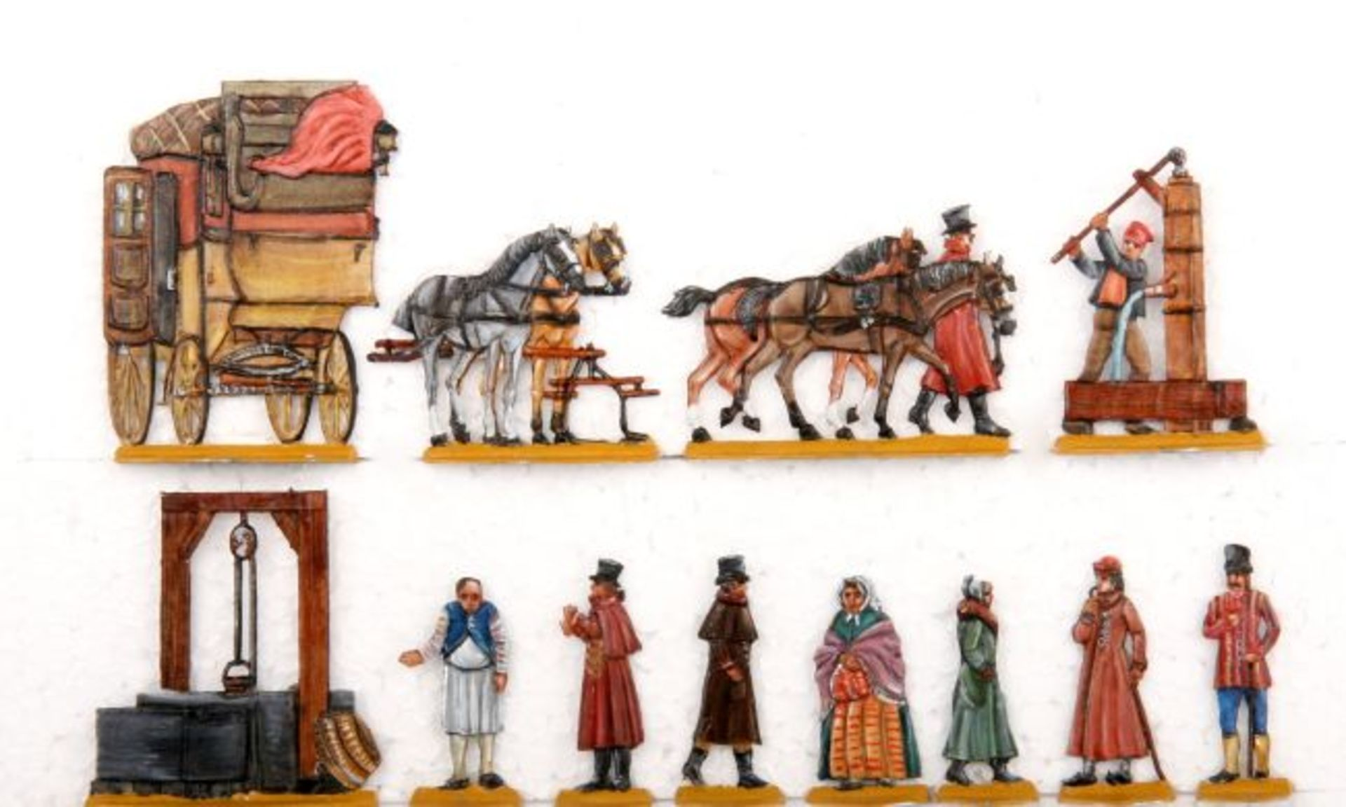 1. Hälfte 19. Jahrhundert, ländliche Poststation, Golberg, sehr gute, schattierte Bemalung, 12