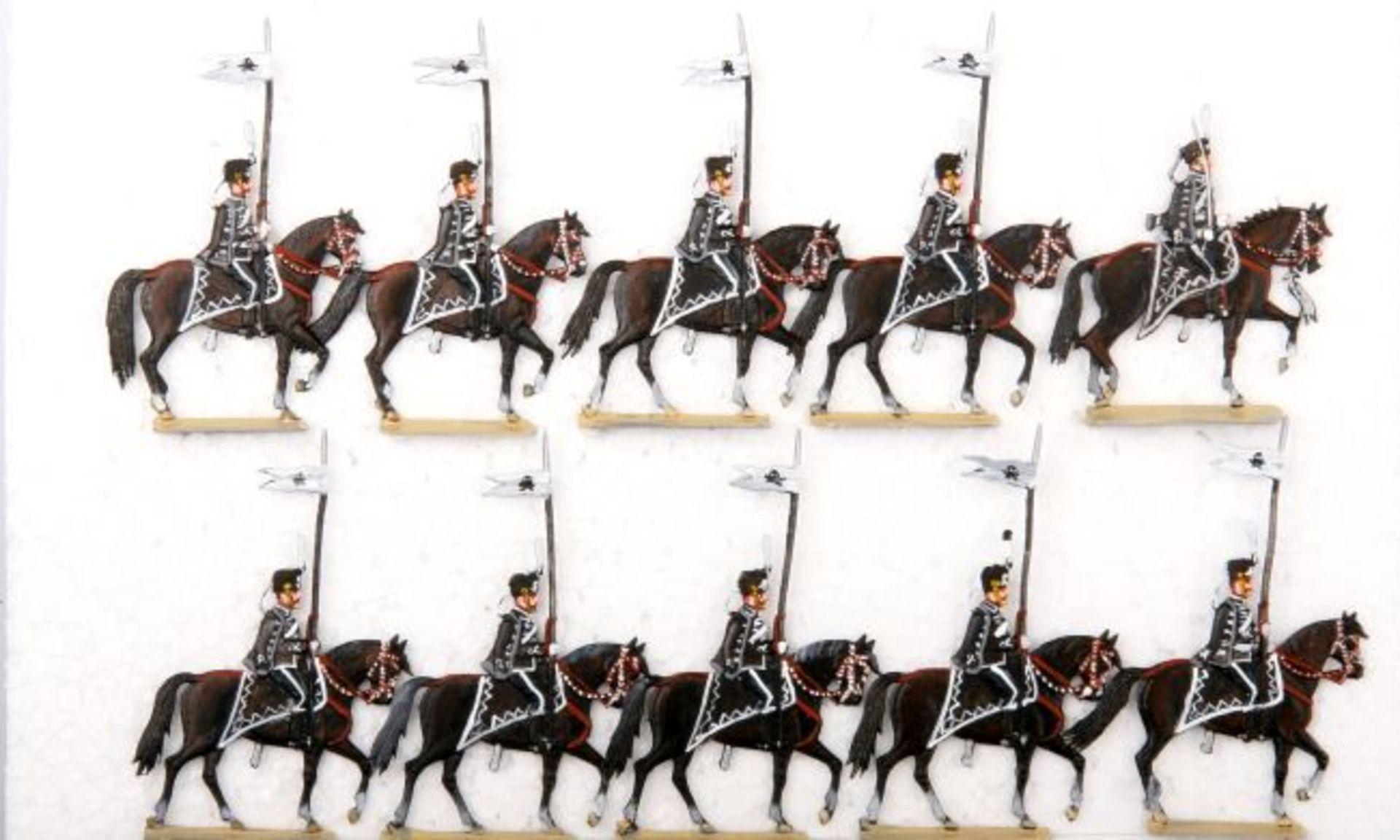 Deutsches Reich um 1910, Preußen, Leibhusaren-Regiment im Schritt, Baumgarten, sehr gute, leicht