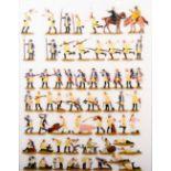 Preußen um 1760, Feldlager, meist Scholtz, gute, unschattierte Bemalung, 90 Figuren, flache